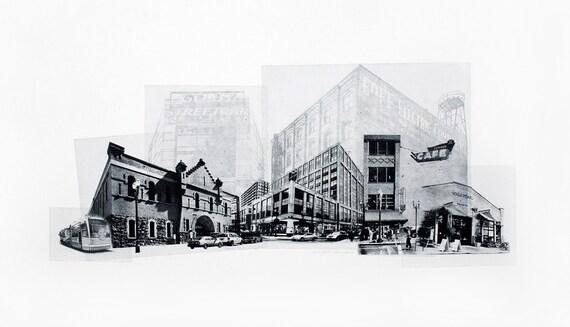 Portland Fine Art -- The Pearl District -- Original Art Print -- Photographic Etching -- Photography -- Oregon