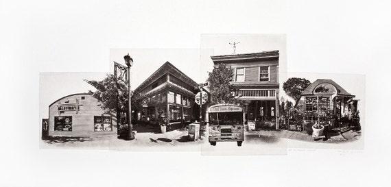 Portland Fine Art -- High Noon on Alberta Street -- Original Art Print -- Photographic Etching -- Photography -- Oregon