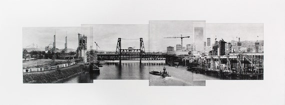 Portland Fine Art -- A Bridge with a View -- Original Art Print -- Photographic Etching --Photography -- Oregon
