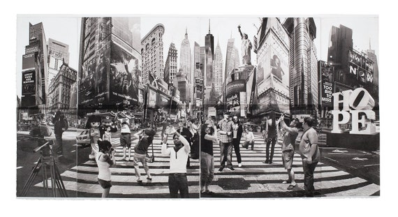 New York City Fine Art -- I am an Artist Not a Tourist -- Original Art Print -- Photographic Etching --Photography --  NYC