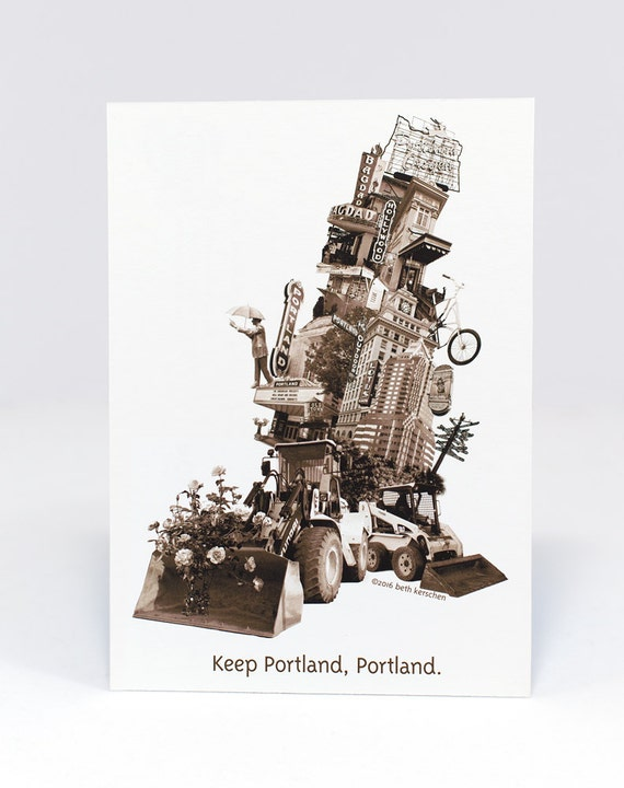 Portland Postcard -- Keep Portland, Portland Postcard -- single or set