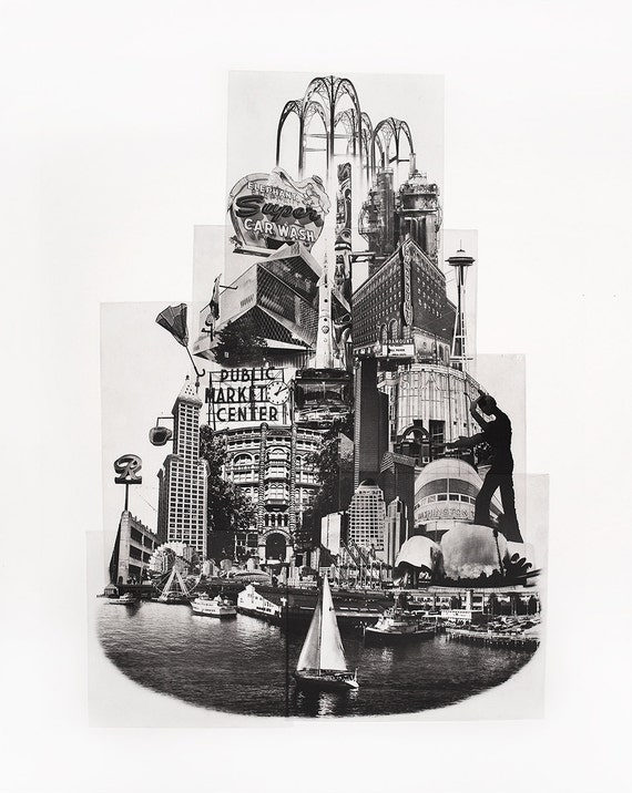 Seattle Fine Art -- Tower of Seattle -- Hand-Printed -- Photographic Etching -- Photography -- Washington