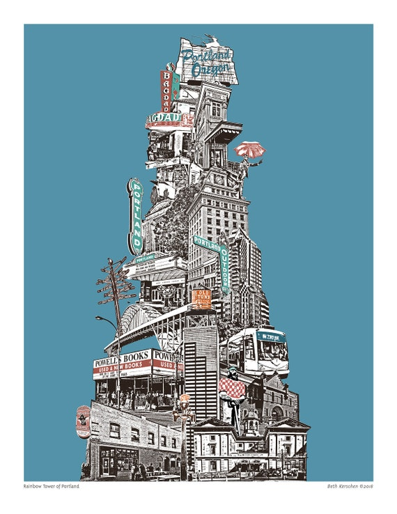 Portland Art Print - Chromatic Tower of Portland