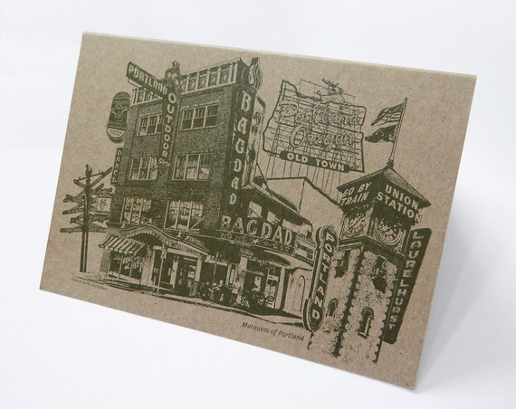 ON SALE!! -- Marquees of Portland Note Card