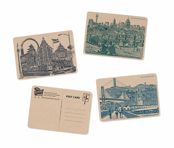 Icons of San Francisco, California Postcards - Set of 6 Cards -- ON SALE!!