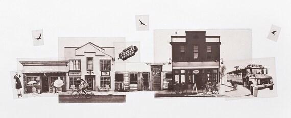 Portland Fine Art -- On Alberta Street -- Original Art Print -- Photographic Etching -- Photography -- Oregon