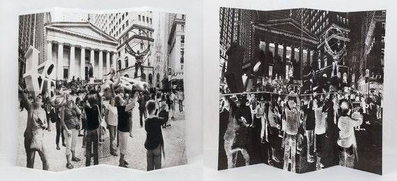 New York City Fine Art - Original Art - Etching & Relief Accordion Print - Art Print - Photography - Photo Collage  - New York - Tourists