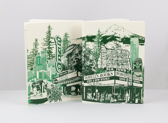 "Portland Notebook -- Portlandmark Notebook 4.5""x6"" -- Mini Journal -- Lined Notebook"
