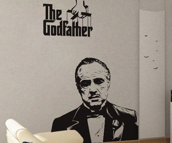 the godfather uber decals wall decal vinyl decor art sticker | etsy