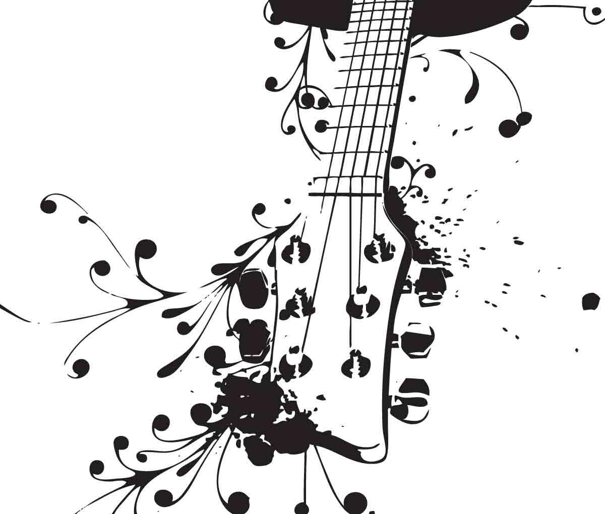 acoustic guitar uber decals wall decal vinyl decor art