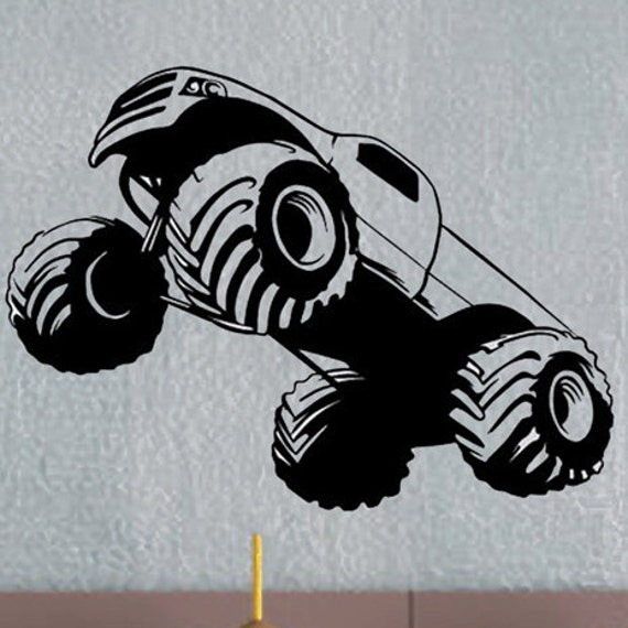 monster truck uber decals wall decal vinyl decor art sticker   etsy