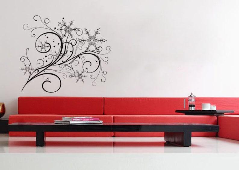 Wall Decal Vinyl Decor Art Modern Removable Sticker Mural uBer Decals A550 Snowflake Flow 2