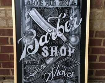 Deluxe, Custom Chalkboard Sign Art - A Work Of Art for your business, restaurant, event or home - Hand lettered & Illustrated - Smudgeproof