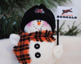Cincinnati Bengals Snowman Ornament