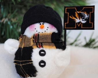 University of Missouri Snowman Ornament