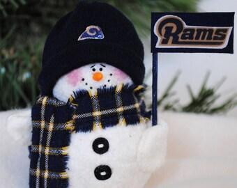 Los Angeles Rams Snowman Ornament