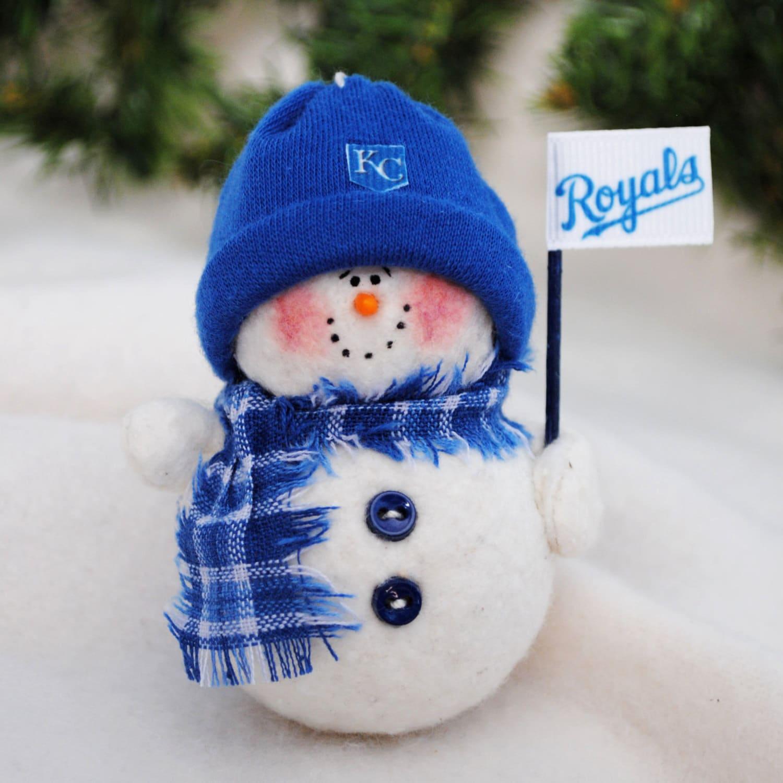 Kansas City Royals Snowman Ornament | Etsy