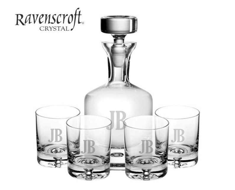 Custom Engraved Taylor Whiskey Decanter Set  Groomsmen Gifts image 0