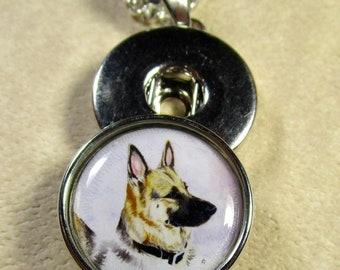 DOG K9 GERMAN SHEPARD POLICE FLOATING CHARM LIVING MEMORY CHARM PET