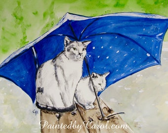 Cat Original Watercolor Painting, Art with Cats, Cat Original Art, Watercolor Cats, Cat Watercolor, Cat Art, Cat Home Decor, Cat Wall Decor