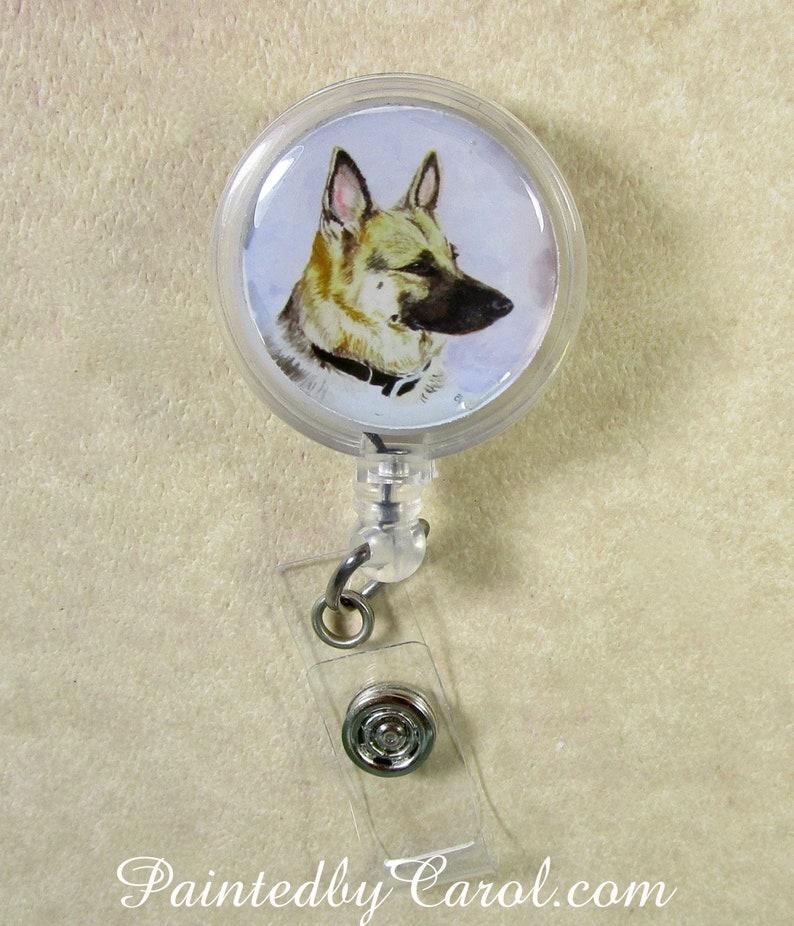K9 Gifts Police Dog ID Holder German Shepherd Dog Badge Reel German Shepherd Security ID Holder K9 Handler Badge Reel