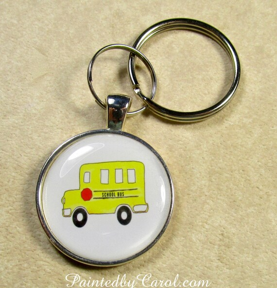 School Bus Keychain School Bus Key Fob School Bus Key Ring  b78390525