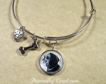 Black Lab Bracelet, Black Lab Bangle, Black Lab Jewelry, Black Lab Expand It, Black Lab Gifts, Black Lab Mom Gifts, Labrador Retreiver