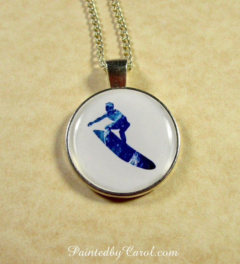Surfer Pendant Surfer Necklace Surfer Jewelry Surfer Gifts Pendant Only