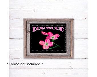 Dogwood Print, Pink Dogwood Wall Art, Dogwood Home Decor, Dogwood Painting, Dogwood Gifts, Dogwood Watercolor, Pink Room Decor