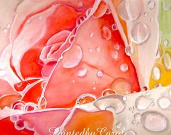 Pink Rose Print, Rose Painting, Rose Watercolor, Watercolor Rose, Rose Home Decor, Rose Wall Decor, Rose Art, Rose Wall Art, Rose Lover Gift