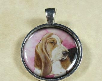 Basset Hound Pendant, Basset Puppy Necklace, Basset Jewelry, Basset Gifts, Basset Pendant, Hound Necklace, Hound Jewelry, Hound Gifts
