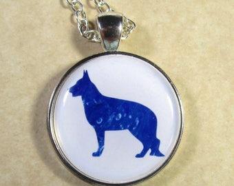 German Shepherd Pendant, German Shepherd Necklace, German Shepherd Jewelry, Police Dog Gifts, K9 Gifts, Police Dog Jewelry, K9 Jewelry