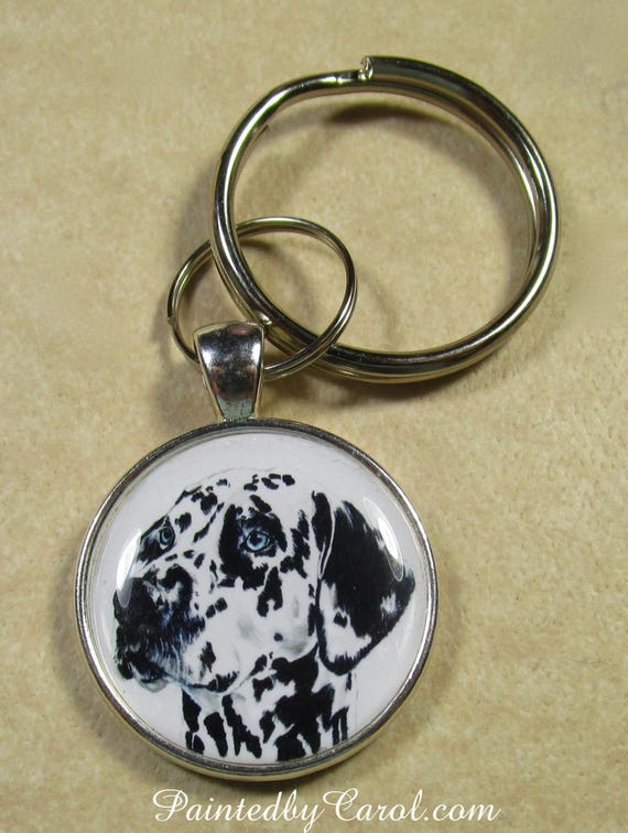 Porte-clés dalmatien, Dalmatien porte-clés, porte-clés dalmatien, Dalmatien cadeaux, cadeaux maman dalmatien, cadeaux papa Dalmatien. Cadeaux pour Dalmatien