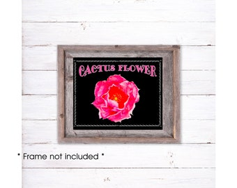 Cactus Flower Print, Cactus Flower Wall Art, Desert Flower Print, Desert Flower Art, Southwestern Art, Cactus Flower Painting
