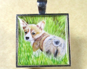 Corgi Necklace, Pembroke Welsh Corgi Pendant, Corgi Jewelry, Corgi Gifts, Corgi Mom Gifts, Gifts for Corgi Mom