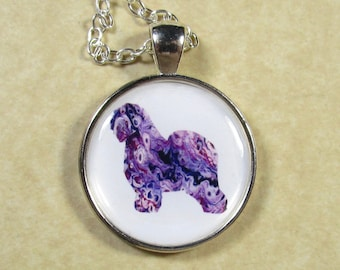 Old English Sheepdog Pendant, Sheepdog Necklace, OES Jewelry, Dulux Dog Pendant, Sheepdog Gifts, Sheepdog Jewelry, OES Necklace, OES Gifts