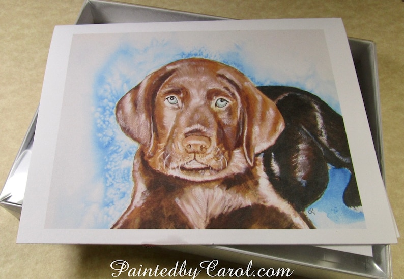 Lab Mom Gifts Chocolate Lab Note Cards Lab Stationery Labrador Retriever Note Cards Chocolate Lab Gifts Blank Note Cards