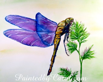 Dragonfly Print, Purple Dragonfly Painting, Dragonfly Art, Dragonfly Home Decor, Dragonfly Wall Decor, Dragonfly Gifts, Outlander Fan Gifts
