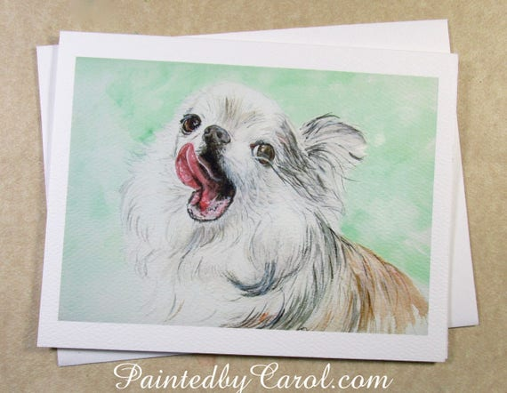 Chihuahua Birthday Card Birthday Card With Chihuahua Etsy