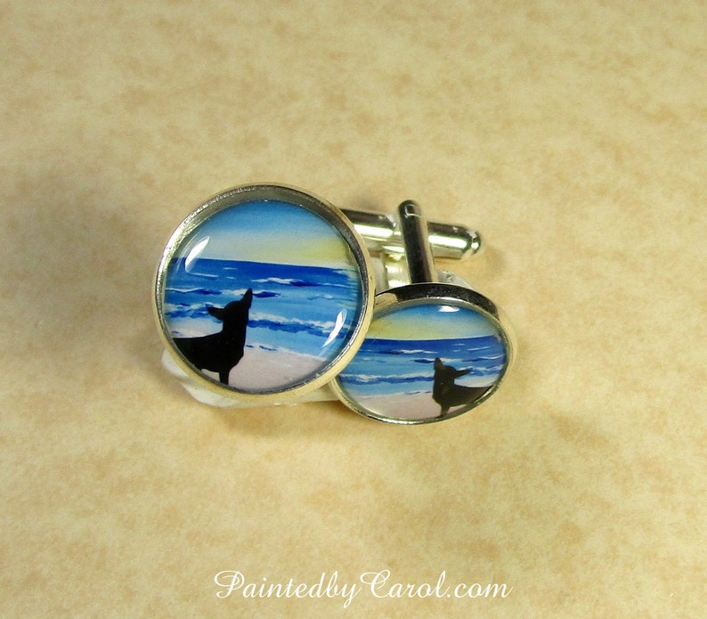 Old English Sheepdog Cufflinks OES Accessories Dulux Dog image 0