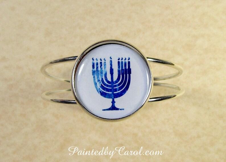 Menorah Bracelet Menorah Jewelry Hanukkah Bracelet Hanukkah image 0