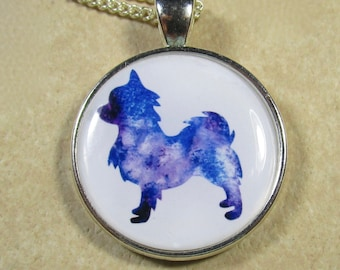 Long Haired Chihuahua Pendant, Long Haired Chihuahua Necklace, Long Haired Chihuahua Jewelry, Chihuahua Gifts, Chihuahua Mom Gifts