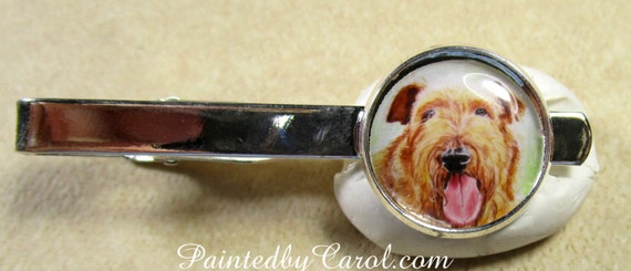 Kerry Blue Terrier Select Gifts I Love My Dog Gold-Tone Cufflinks