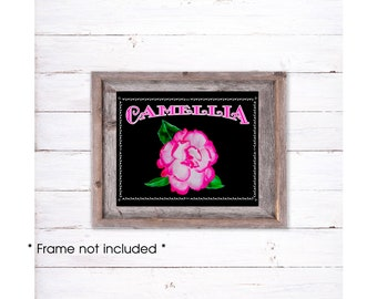 Camellia Print, Camellia Giclee, Camellia Art, Camellia Painting, Camellia Home Decor, Camellia Wall Decor, Pink Flower Print