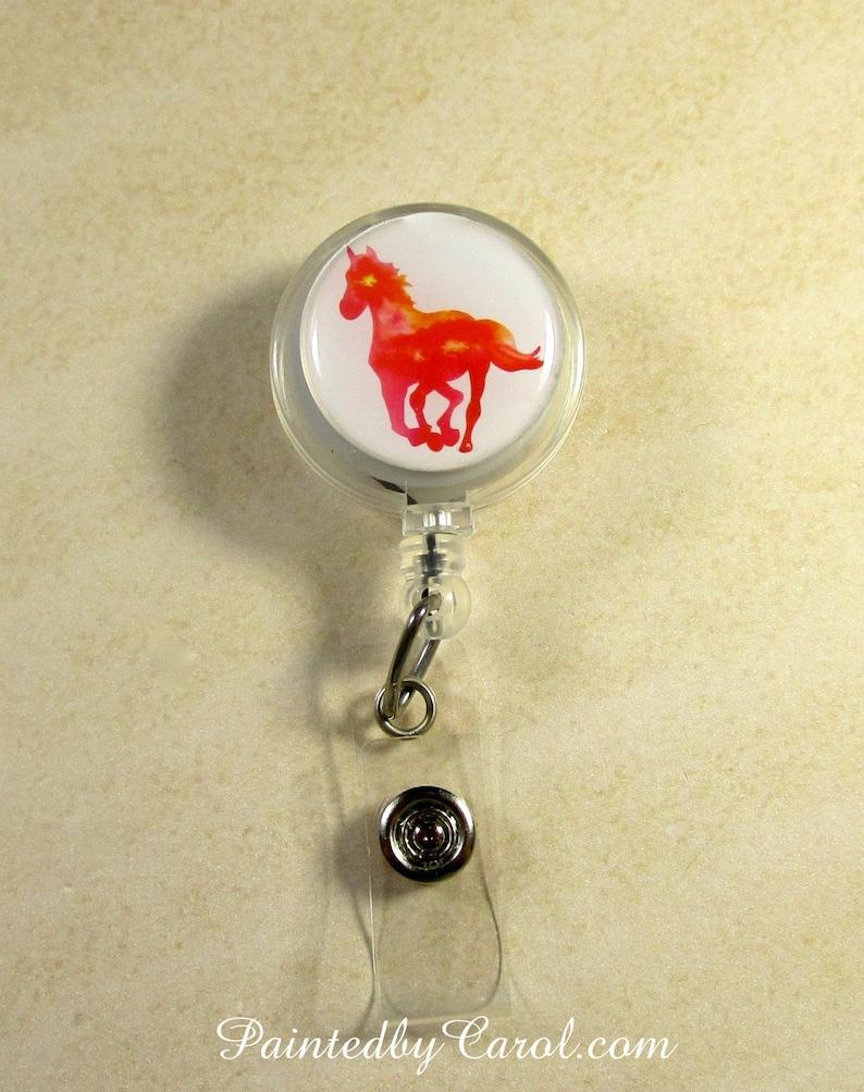Horse Badge Reel Horse Lanyard Reel Horse Reel Horse Badge image 0