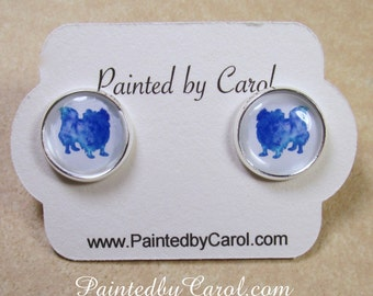 Pekingese Earrings, Pekingese Jewelry, Pekingese Studs, Pekingese Lever Backs, Pekingese Gifts, Kids Earrings, Girls Earrings, Kids Jewelry