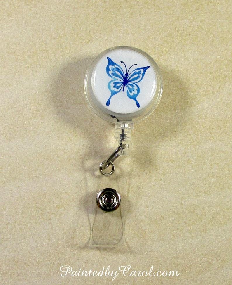 Butterfly Badge Reel Butterfly Lanyard Reel Butterfly Reel image 0