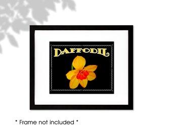 Daffodil Print, Yellow Jonquil Wall Art, Daffodil Home Decor, Daffodil Painting, Daffodil Gifts, March Birthday Gifts, Daffodil Watercolor