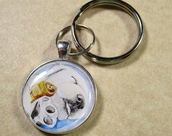 Yellow Labrador Retriever Keychain, Yellow Lab Key Ring, Yellow Lab Gifts, Yellow Lab Dad Gifts, Gifts for Yellow Lab Dad, Gifts with Lab