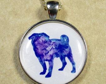 Pug Pendant, Pug Necklace, Pug Jewelry, Pug Gifts, Pug Mom Gifts, Jewelry with Pug, Necklace with Pug, Pug Lovers Gifts, Gift for Pug Mom